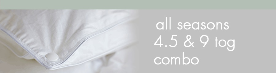 all seasons duvets are a combination of two weight which may suit all your seasonal needs, see here